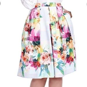 City Chic Geo floral skirt